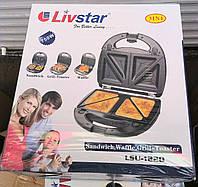 Бутербродница, вафельница, гриль 3 в 1 Livstar LSU-1220