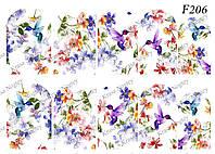 Слайдер -дизайн Цветы,Птичка F206