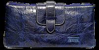 Интересный женский кошелек из натуральной кожи синего цвета JCCS JQS-101020, фото 1