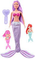 Кукла Штеффи-русалочка с малышами фиолетовая, Steffi & Evi Love