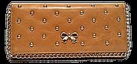 Шикарный женский кошелек Chanel из натуральной кожи бежевого цвета UIS-622556