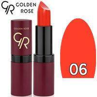 Губная помада матовая Golden Rose Velvet Matte Lipstick Тон 06 tomato red