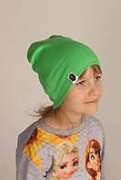Модная демисезонная шапка на детей Bape Kids зеленого цвета