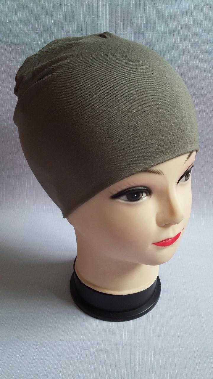 Детская демисезонная трикотажная шапка для мальчиков