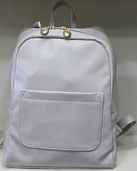 Ранец Рюкзак Стильный Однотонный Искусственная Экко-кожа  17-35416-4 Белый