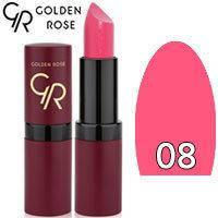 Губная помада матовая Golden Rose Velvet Matte Lipstick Тон 08 Bright Pink Lilac