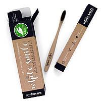 Натуральная бамбуковая зубная щетка Tranquilo White Smile