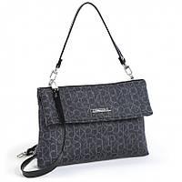 Женская сумка клатч Dolly 143 черный молодежный 25 см х 17 см х 5 см