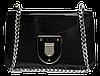 Строгая лаковая женская сумочка коричневого цвета LLW-000752