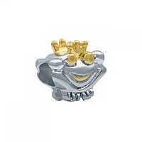 Серебряная родированная бусина 131510077-2 131510077-2