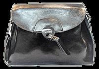 Женская сумочка из натуральной кожи черного цвета через плечо NCE-040065, фото 1