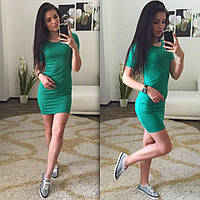 Женское Платье-Футболка мини