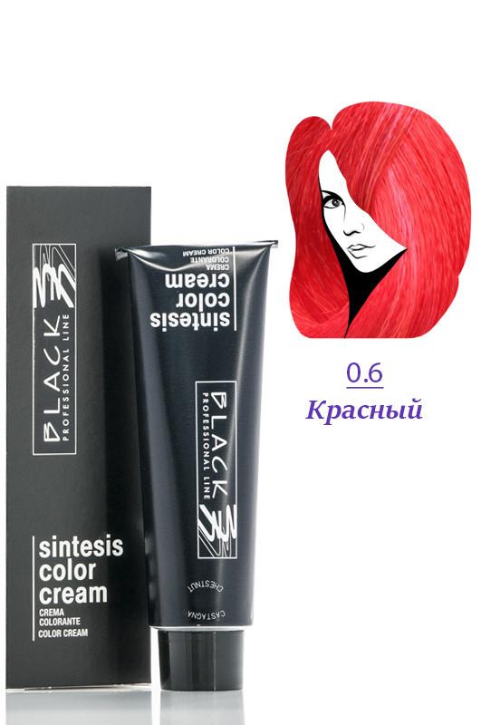 Black Sintesis Color Creme Краска для волос 0.6 красный 100 мл Код 8596