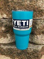 Термокружка YETI Rambler Tumbler 890 мл. Аквамарин