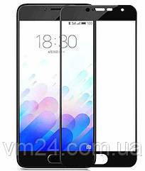 Захисне скло Meizu M3 Note (чорне) 0,30 mm 3D скло на весь екран