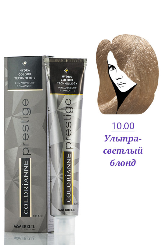 Brelil Colorianne Prestige Краска д/волос № 10/00  ультра светлый блонд  100 мл Код товара 8647