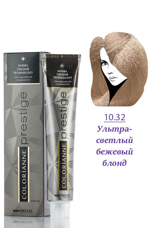 Brelil Colorianne Prestige Краска д/волос № 10/32  ультра светлый бежевый блонд  100 мл Код товара 19363