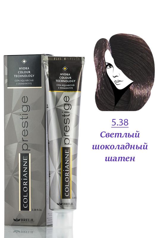 Brelil Colorianne Prestige Краска д/волос № 5/38  светлый шоколадный шатен  100 мл Код товара 19377