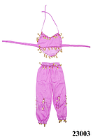 Костюм детский для восточных танцев в сиреневом цвете