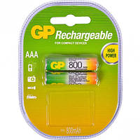 Аккумуляторная батарейка 800 mAh, GP R03, 1 шт.