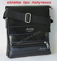 Мужская кожаная фирменная сумка барсета Jeep (Polo Поло) купить NEW!