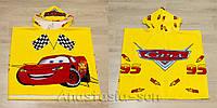 Детское пляжное пончо Cars желтый