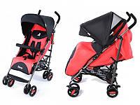 """Детская коляска Carrello """"Nero"""" (CRL-1403) Черно-малиновая"""