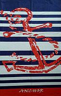 Полотенце пляжное махра-велюр 75х150 Anchor