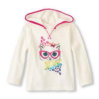 Кофта с капюшоном для девочки на 4 года,  Childrens Place