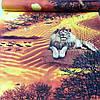 "Бязь с тиграми и львами ""Сафари"" с шириной 150 см"