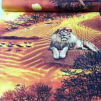 "Бязь с тиграми и львами ""Сафари"" с шириной 150 см, фото 1"