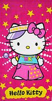 Полотенце пляжное махра-велюр 75х150 Hello Kitty