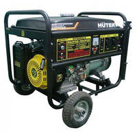 Бензиновый генератор Ресанта Huter DY 6500 LX с аккумулятором  и колесами