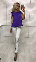Женская легкая блузка летняя без рукавов