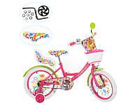 Детский двухколесный велосипед PROF1 мульт 20 дюймов PF2066G Fairy с сиденьем для кукол, фиолетово-зеленый