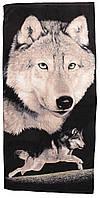 Пляжное полотенце (велюр) 70х140. Код 1615-1279