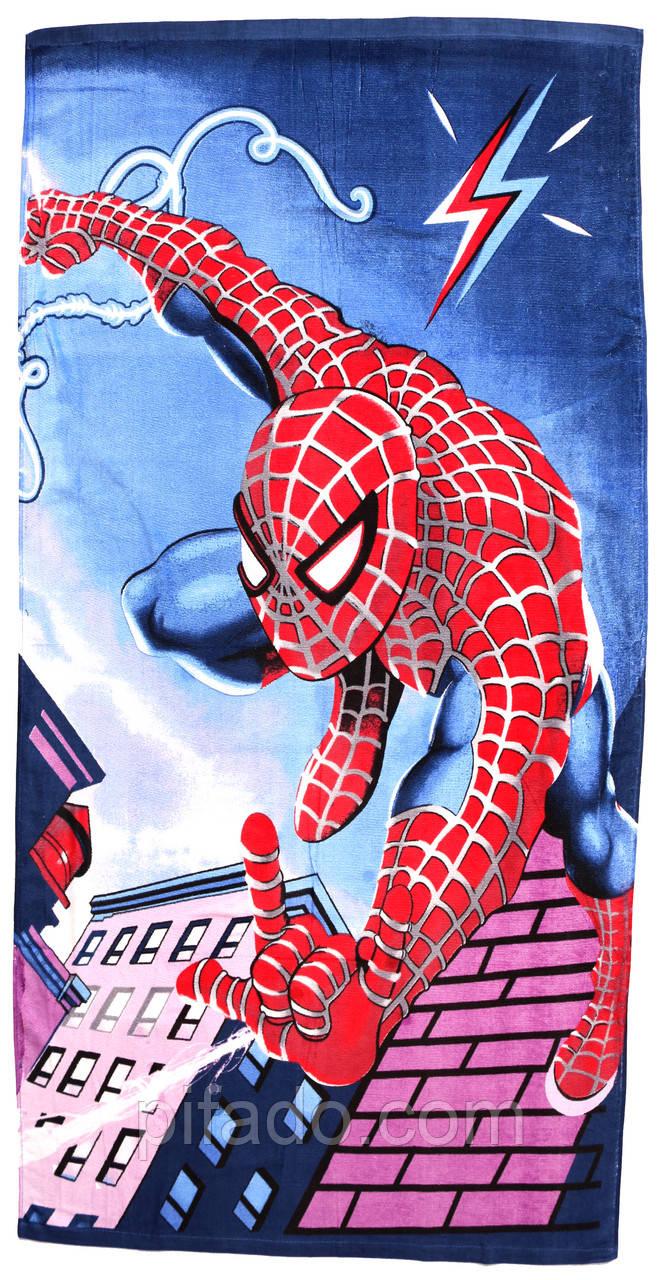 Пляжное полотенце Человек паук (велюр-махра) 70х140