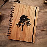 "Деревянный блокнот ""Дерево"" А6 (бумага 105х148 мм)"