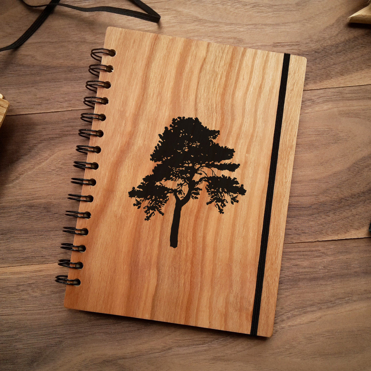 "Деревянный блокнот ""Дерево"" А5 (бумага 148х210 мм), фото 1"