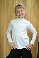 Кофточка для девочек с гипюром, камешками под горлышко на кнопочках.Кокетка