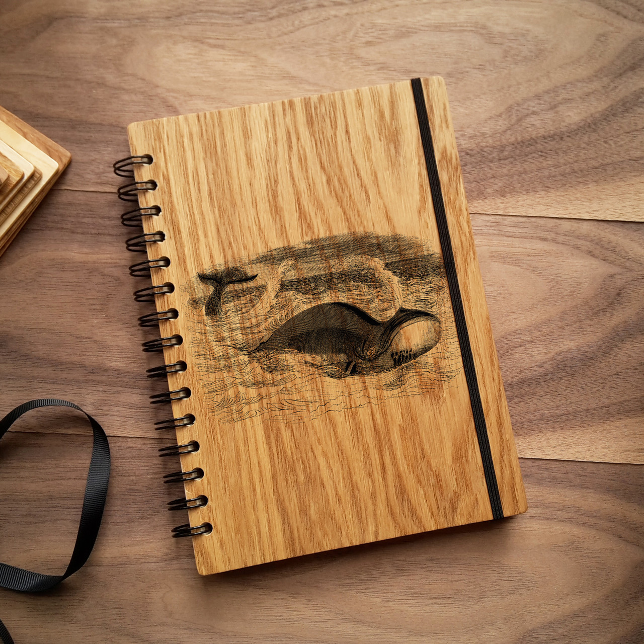"Деревянный блокнот ""Кит"" А6 (бумага 105х148 мм), фото 1"