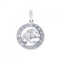 Кулон серебряный знак зодиака Рак 3084-4