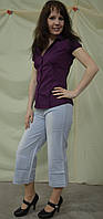 Капри женские джинсовые длинные