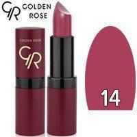Губная помада матовая Golden Rose Velvet Matte Lipstick Тон 14 Plum