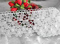 Кружево белое цветы (ширина 6,5см)