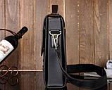 Сумка чоловіча через плече Polo Videng чорна (8825), фото 2