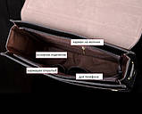 Сумка чоловіча через плече Polo Videng чорна (8825), фото 3