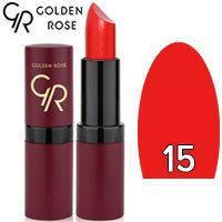 Губная помада матовая Golden Rose Velvet Matte Lipstick Тон 15 Red