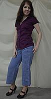 Бриджи женские джинсовые длинные