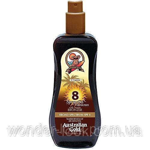 Australian Gold SPF 8 Spray Gel Bronzer Спрей-гель с бронзатором, 237 мл